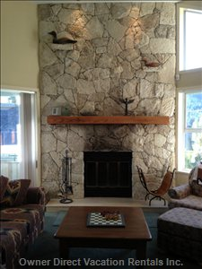 Stone Fireplace, Cathedral Ceilings, Views, Relaxation