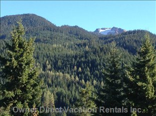 View of Whistler Mountain from Condo (Summer)
