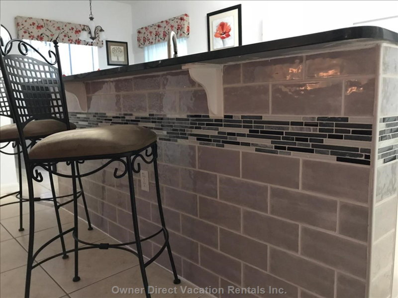 Additional Granite Top Breakfast Bar