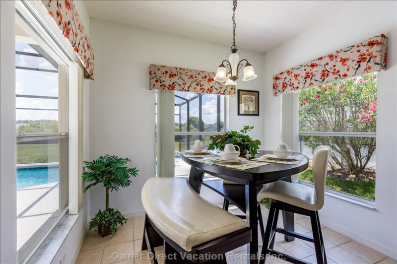 Breakfast Nook for Additional Seating