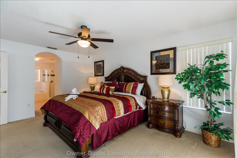 Master King Bedroom with Solid Mahogany Furniture