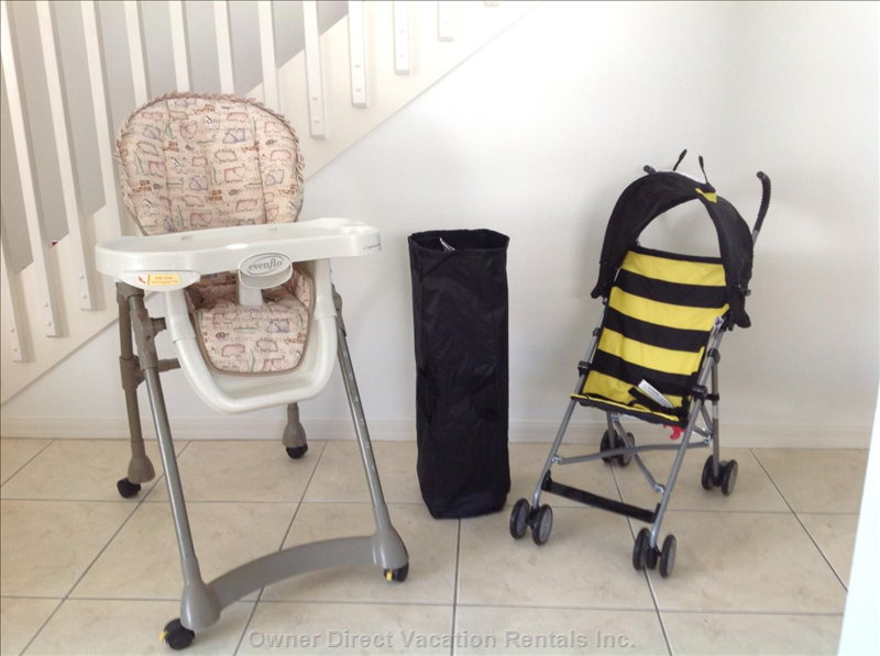Baby Crib, Stroller and High Chair Free to Use