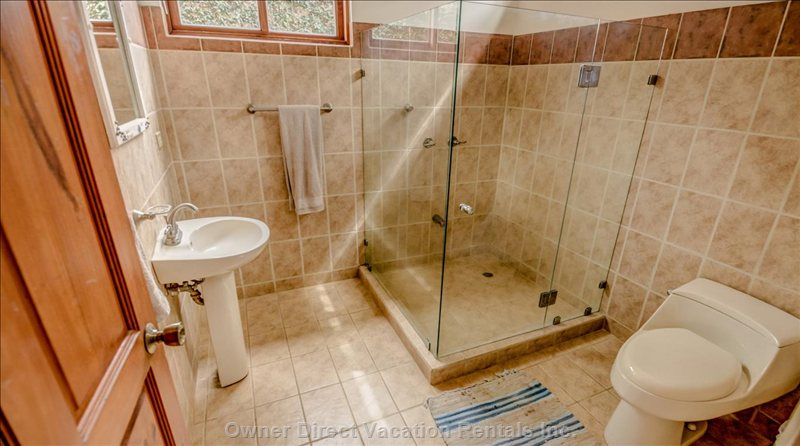 Bathroom with Tempered Glass Shower