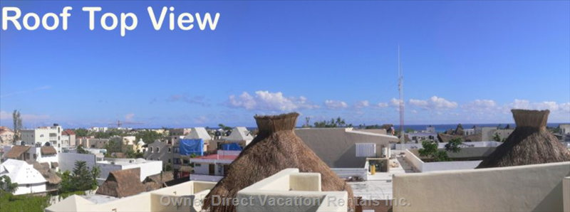 View of Playa Del Carmen from your Private Rooftop Terrace