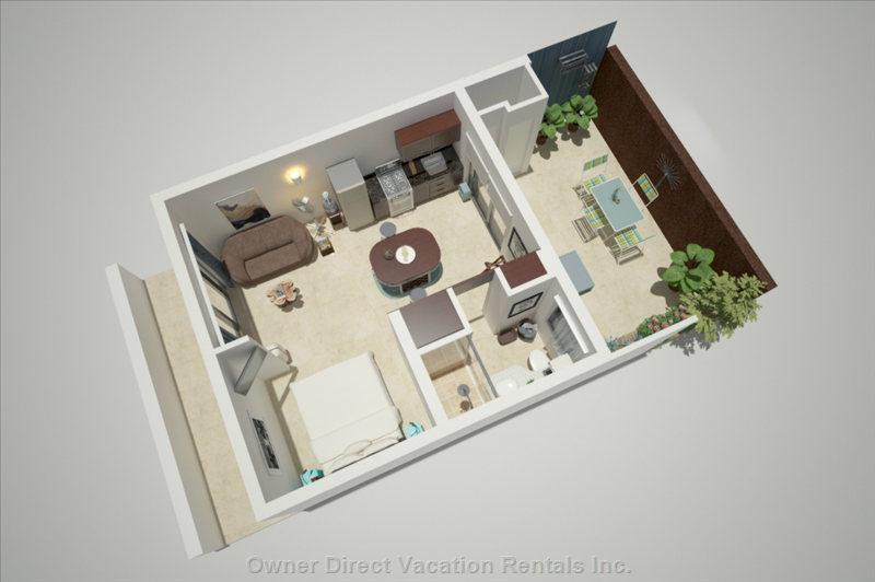 Floor Plan of Studio with Furniture