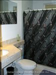 Clean Modern Bathrooms with Granite Counter Tops