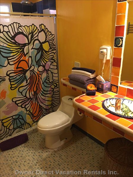 Bathroom is Decorated with Mexican and Cuban Items by Viva Maria