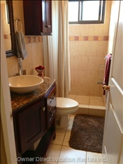 New Main Bath Vanity & Wall Cabinet with Granite Countertop