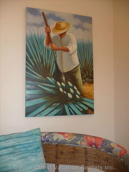 Rich Mexican Culture is Depicted by the Artwork Throughout the House.
