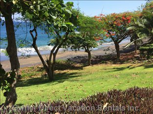 The Beach in Front of the Villa - Closest of any Villa to the Pacific in Costa Rica