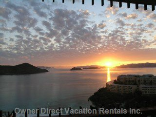Linger over your Morning Coffee While Watching Beautiful Sunrises Overlooking St John and the British Virgin Islands.