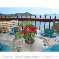 Dine on your Huge Balcony While Watching the Sailboats Go by