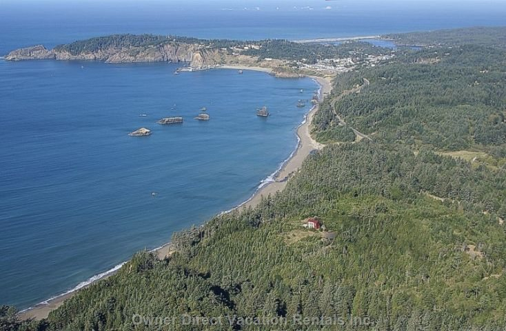 A View of the House and Shoreline from the Air...