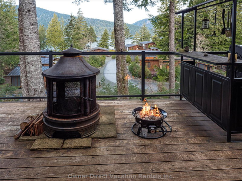 The Fire Pits and View of the Cottage Community.