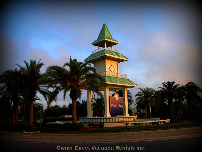 Clock Tower at Entrance to PGA Village