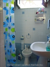 The Reformed  Blue Bathroom