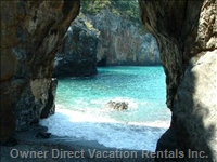 Just a Walk Away - the Beautiful Arco Magno Bay, Reachable by Boat and by Bike