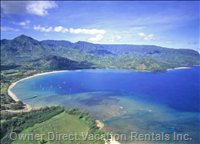 Hanalei Bay Just Minutes Away
