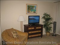 32' TV in Master Bedroom and Chair