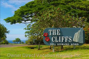 Cliffs Sign
