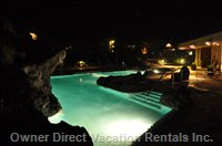 Cliffs Pool at Night