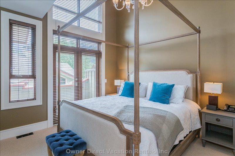 Gorgeous master bedroom with ensuite bathroom