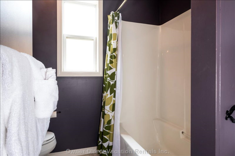 The Master Bath has a Shower/Bathtub Combo.