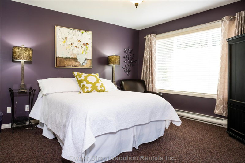 On the 2nd Floor the Master Bedroom Offers Views of the Alpine Chairlift, Even While Laying in Bed!
