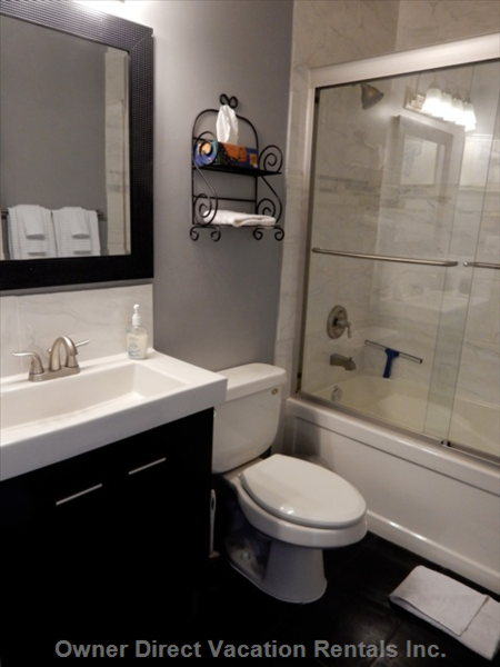 Private Bathrooms with Tub and Shower.