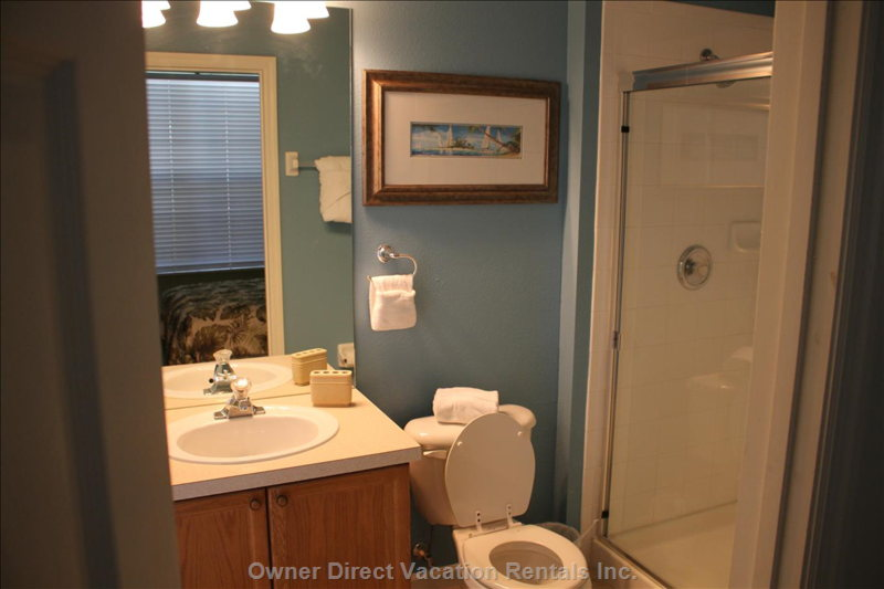 Downstairs Optional Private Bathroom with Walk in Shower