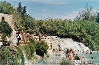 Saturnia with one of the Hot Springs (60 Kms)