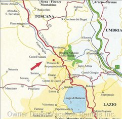 Location on the Border of Tuscany/Lazio and Umbrie