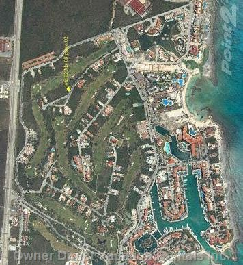 Aerial View of Puerto Aventuras Resort
