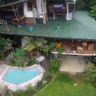 Birds Eye View of 3 Levels of the House- Tree House Style Top Level with 2 Master King Bedrooms and Private Spa Baths/ Double Sinks