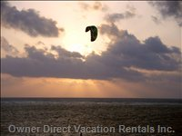 Sunrise Kite Surfer View from Balcony
