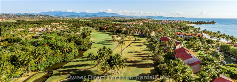 Birds Eye View of Golf Course in Rear of Villa
