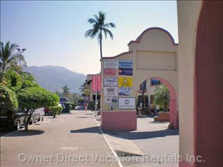 Main Avenue outside of Villa Vallarta
