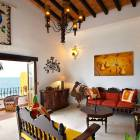 Living Room with Handcrafted Traditional Mexican Decor