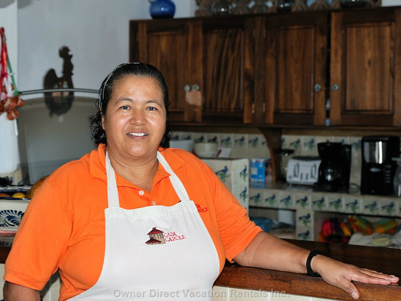 Our Cook Maria Prepares & Serves 2 Gourmet Meals a Day from her Extensive Menu