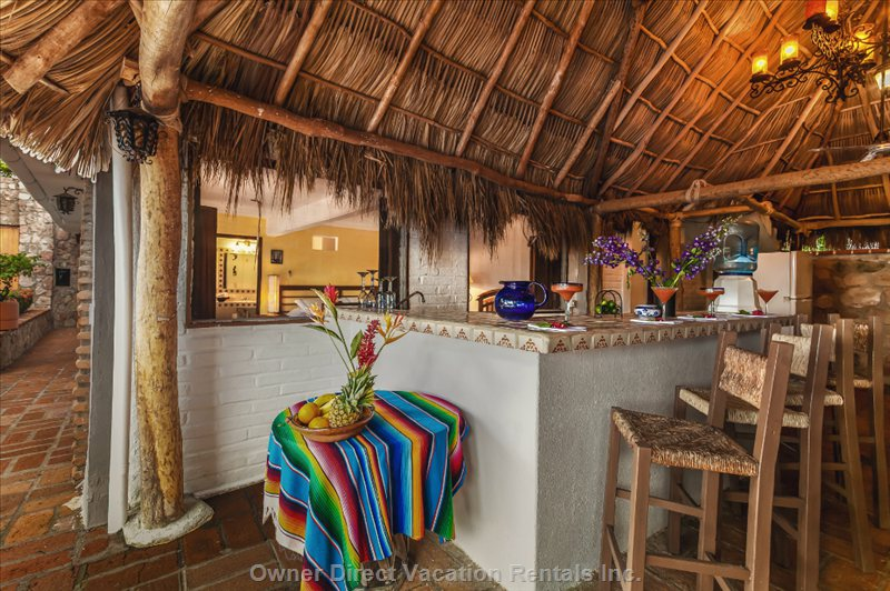 Palapa Covered Bar Poolside