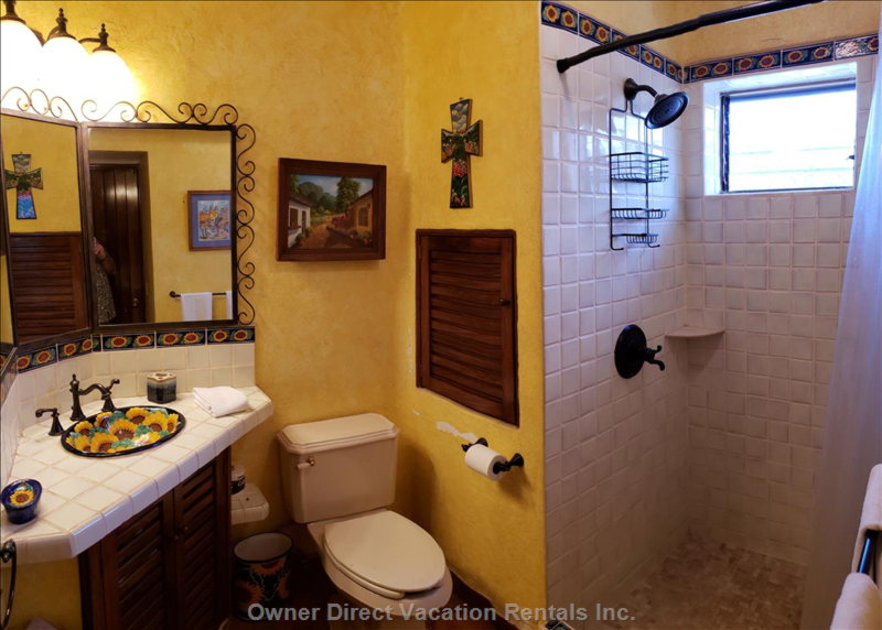 Second in Suite Bathroom and Shower.