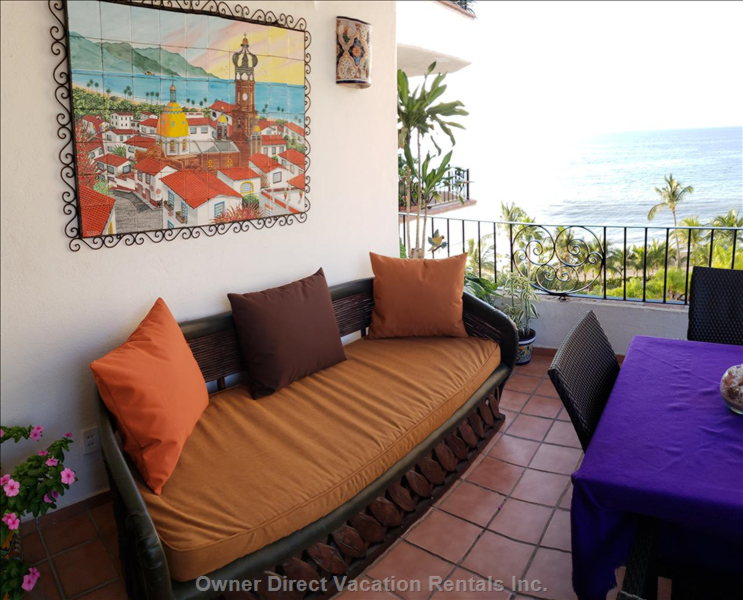 Comfortable Sofa on the Balcony to Relax Or Take a Siesta to the Sounds of the Ocean