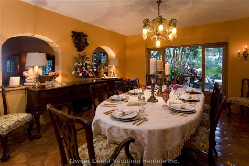 Interior Dining Room  with Spanish Antiques