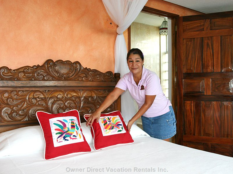 Carmen Cleans the Rooms and the Whole Villa Every Day. she Will Do Personal Laundry as Well.
