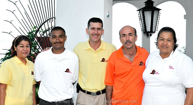 Our Staff of 5 Cook, Houseman/Concierge, Maid, Pool-man & Gardener Are Dedicated