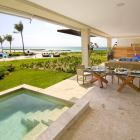 Terrace with View to the Gardens, Swimming Pool and Carribean Sea