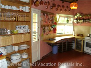 Country Style Kitchen Facing Fruit Garden