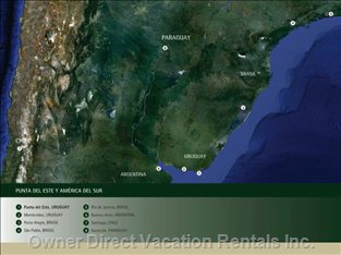 Mapa de La Zona Productiva de Punta Del Este - Natural Production
