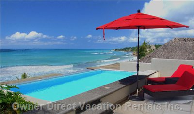 View to Beach from Private Pool Deck
