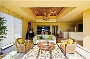 Living Area with Palapa Roof